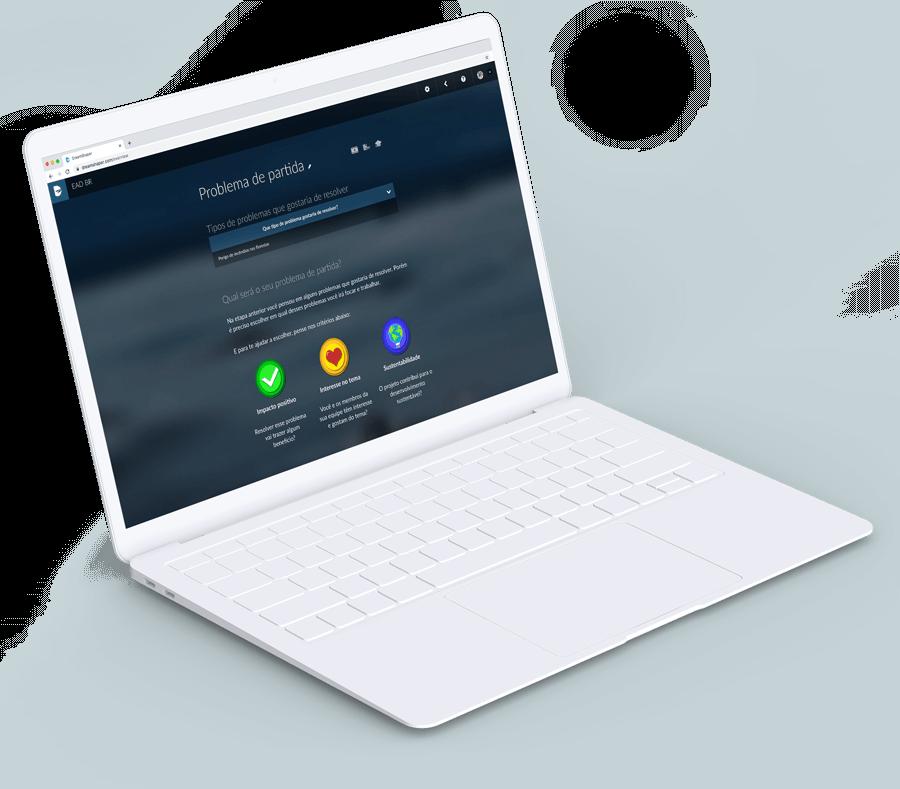 DreamShaper o usuário escolhe um problema de partida para metodologia de Aprendizagem Baseada em Projetos